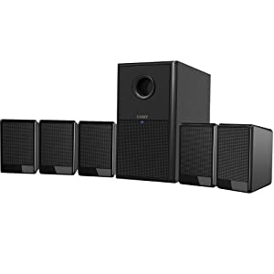 Coby CSP97  300 Watts  5.1-Channel Speaker System, Black