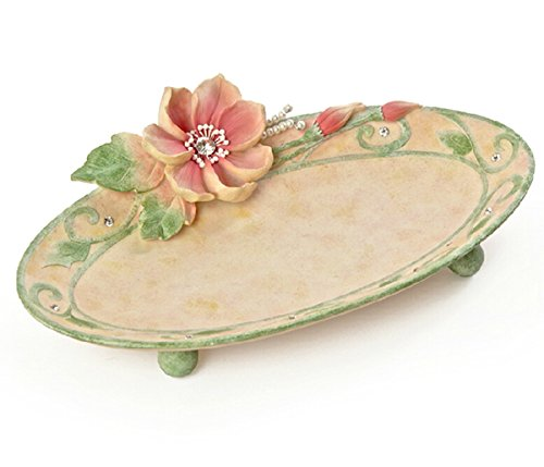 Vas Polyresin Jewelry Trays With Beautiful Flower Diamond Garden Style Decoration front-298223