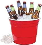 "Rednek Party Bucket Red 10"" Dia. X 8"" H"