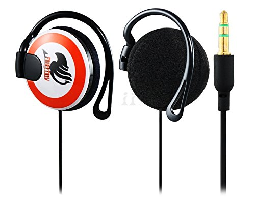 Afirst Anime Fairy Tail 3.5 Mm Earhook Headphones With 1.2 M Cable (Orange)