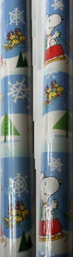 Hallmark's SNOOPY & WOODSTOCK ~ Christmas Wrapping Paper 40 Sq. Ft.