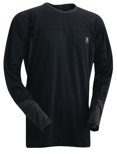 Haglöfs Herren Funktionsshirt Actives Regular Roundneck, black/charcoal, L, 601584_939