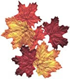 100 Mixed Fall Colors Silk Maple Leaves - Great Autumn Table Scatters