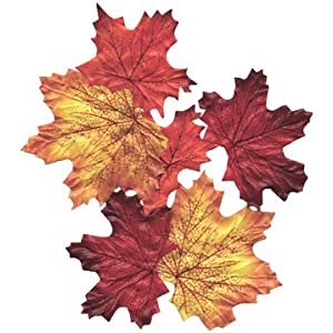 Click to buy Wedding Reception Decoration Ideas: Fall Colors Silk Maple Leaves from Amazon!