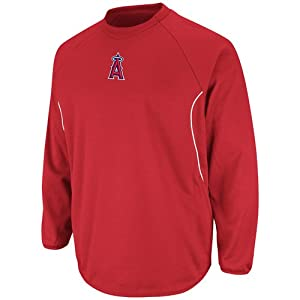 MLB Los Angeles Angels Featherweight Tech Fleece, Pro Scarlet Pro White by Majestic