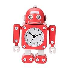 Robot Horloge Movable chevet alarme horloge analogique yeux šŠtincelants Et Son A