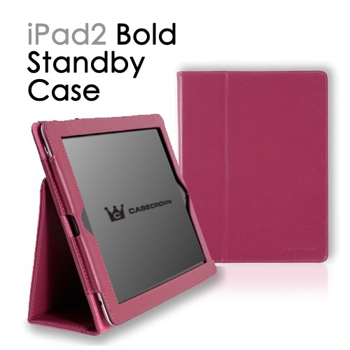 CaseCrown Bold Standby Case for Apple iPad 2, Fuchsia