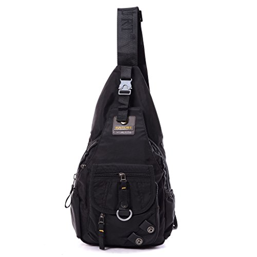DDDH Sling Bag Chest Pack Satchel Outdoor Crossbody Backpack (Black) (Side Backpack For Women compare prices)