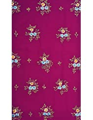 Exotic India Purple Salwar Kameez Fabric With Ari Embroidered Flowers A - Purple