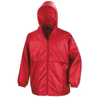 Result Mens Core Lightweight Waterproof Shield Windproof Jacket (XS) (Red)