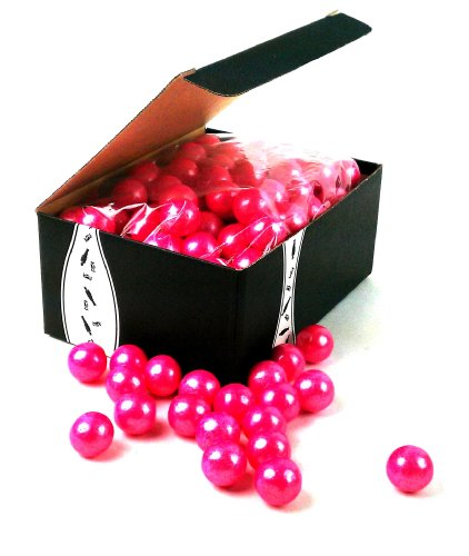 Shimmer Pearlescent Bright Pink 1 Inch Gumballs, 2Lb Bag In A Gift Box front-481777