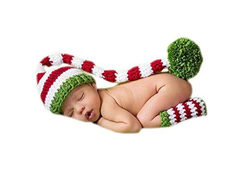 deley-bebe-crochet-tejer-navidad-elf-largas-colas-pompon-sombrero-de-disfraz-infantil-ropa-photo-pro