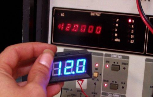 """Soondar® Blue 0.56"""" Variable Precision Digital Voltmeter 2.5-30.0V For 3V 5V 9V 12V 24V"""