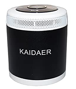 Kaidaer II - Mini Design Lautsprecher / PowerBass Boxen / Musikwürfel für MP3 / MP4 Player, PC, Netbook, Laptop, Tablet PC, iPod, iPhone, iPad, Handys, Smartphones, CD & DVD Player mit Micro-SD Kartenslot, FM Radio, USB Slot, Kopfhörer Eingang - in schwarz