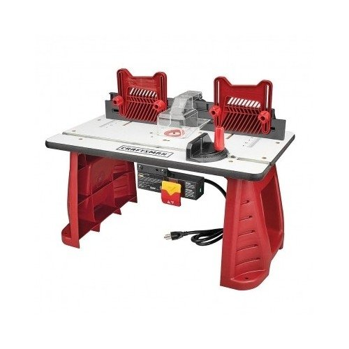 Router woodworking table craftsman garage work shop for Router work table