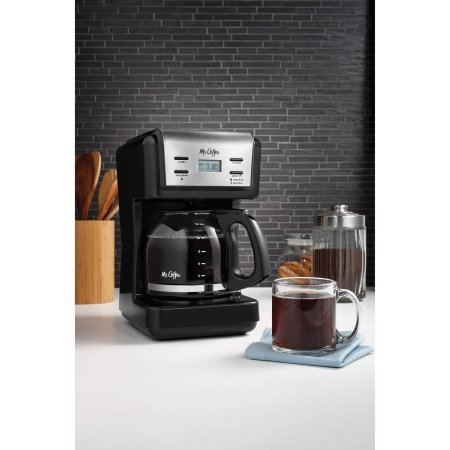 Mr. Coffee 12-Cup Black Programmable Coffee Maker with Brushed Stainless Accents (Mr Coffee Grinder Cup compare prices)