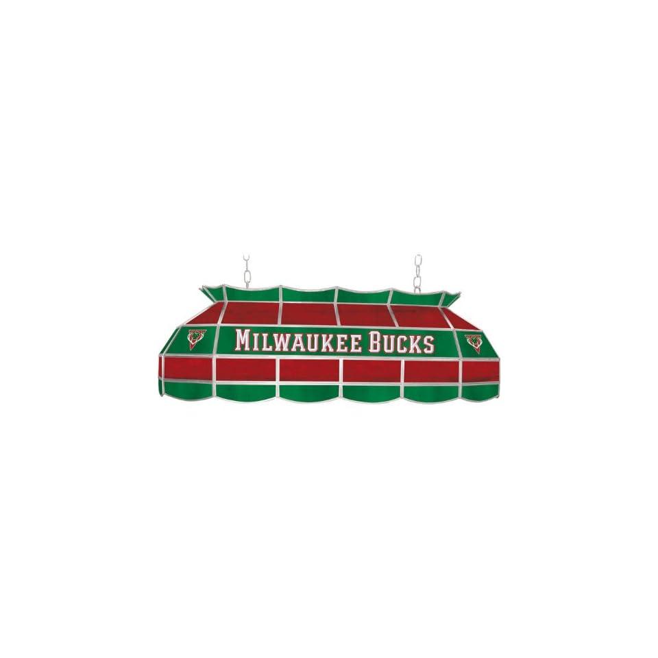 Milwaukee Bucks NBA 40 inch Tiffany Style Lamp   Game Room Products Tiffany Lamps NBA