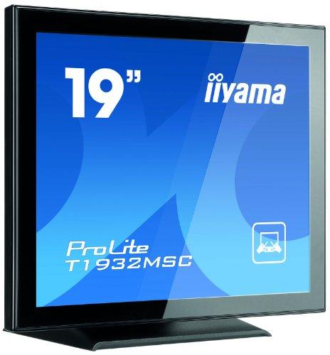 IIYAMA T1932MSC-B ProLite T1932MSC (19 inch) Multi-Touch LCD Monitor 800:1 225cd/m2 (1280x1024) 5ms VGA/DVI/USB (Black)