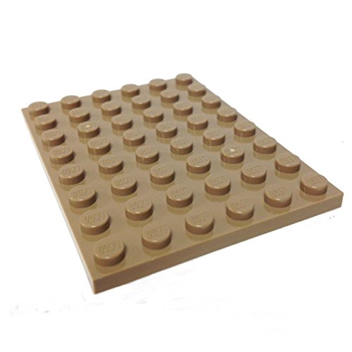 Lego Parts: Plate 6 x 8 (Dark Tan) - 1