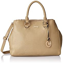 Cathy London Women's Handbag, Material- Synthetic Leather, Colour- Gold