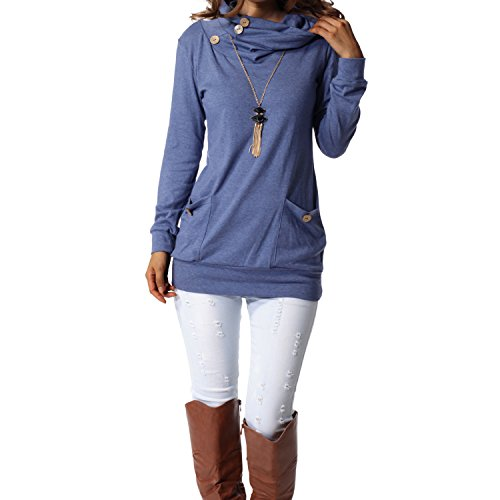 Womens Long Sleeve Tunic Tops
