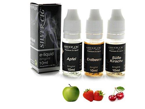 Liquid, Bundle: Cherry, Apple, Strawberry, 3x 10ml, 6mg/ml nicotine, SilverCig пуф dreambag круг cherry