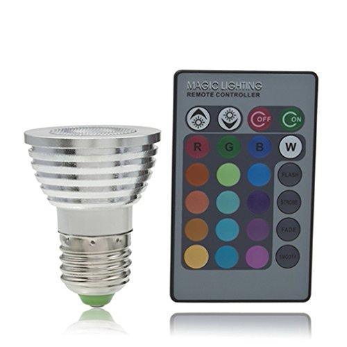 Generic E27 5W Rgb Led Spotlight Lamp Bulb 110V-240V Color Changing Remote Control 280Lm
