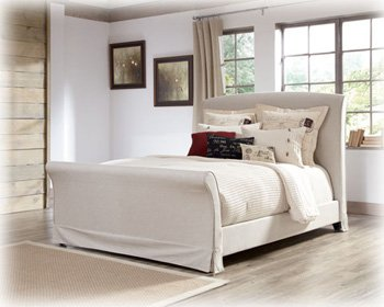 Burnished Brown/White King/Cal King Sleigh Bed - Signature Design By Ashley Furniture front-988592