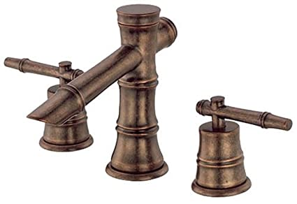 Danze D309345RBD South Sea Two Handle Wide Spread Lavatory Faucet, Distressed Bronze