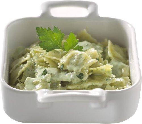 Revol Belle Cuisine 643001 12-1/4-Ounce Square Baking Dishes, White, Set of 2