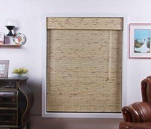 Petite Tropical Rustic Bamboo Roman Shade - Free Shipping, 69x74