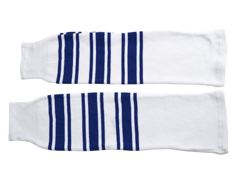 Sherwood Adulti Calzettoni NHL, Bianco (Weiß/Blau), Adulto