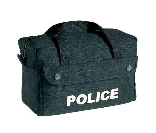 POLICE LOGO BLACK TACTICAL BAG