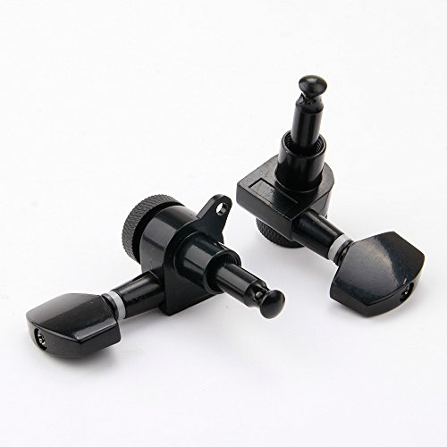 Beyond 3L3R Guitar Tuners Tuning Pegs Machine Heads Trim Locking Black a set sealed gear guitar string tuning pegs tuners machine heads for acoustic electric guitar