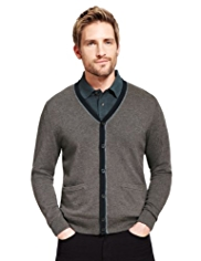 Blue Harbour Pure Cotton Tipped Cardigan