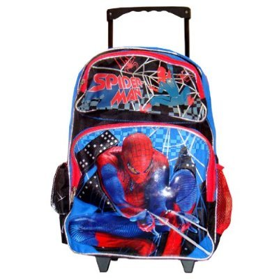 Full Size Spiderman Rolling Backpack - Spiderman Luggage with Wheels by PT