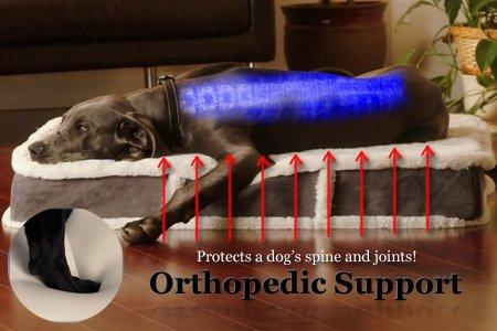 K9 Ballistics Orthopedic LUX Bolster Rectangle Bed Stain Resistant