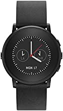 Pebble Time Round 20mm Smartwatch for Apple/Android Devices - Black/Black