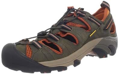 KEEN Men's Arroyo II Hiking Sandal,Black Olive/Bombay Brown,7 M US
