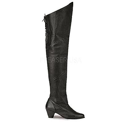 Funtasma Piraten-Stiefel Maiden-8828 Echt Leder schwarz Gr. 36