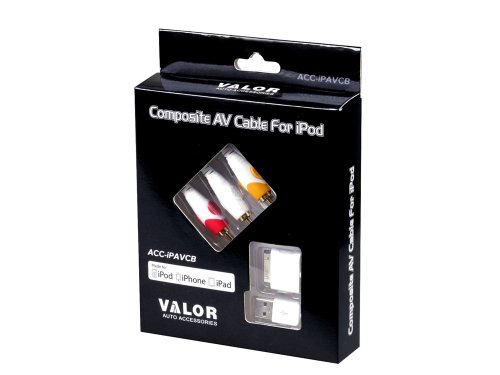 Valor Multimedia ACC-iPAVCB iPod, iPhone, and iPad Audio Video Accessory