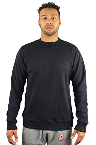 Dickies 200037 Washington 02-Felpa a girocollo da uomo, colore: nero Nero  nero