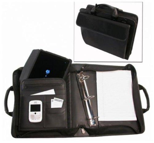 Bond Street 465501BLK Ballistic Nylon Electronic Device Carrier-Business Organizer with Removable 1.5 in. Binder Portfolio