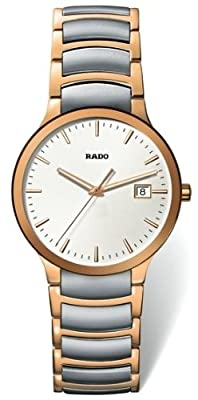 Rado Centrix Men's Quartz Two-Tone Stainless Steel Watch (R30554103) from Rado
