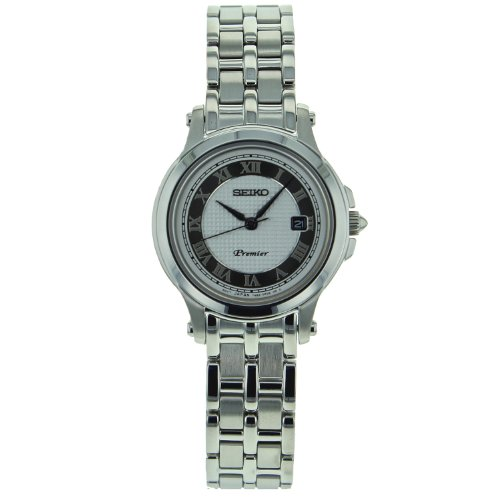 Seiko Women's SXDE41 Stainless Steel Analog with Silver Dial Watch