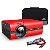 VANKYO Portable Projector, Support HD 1080P, Mini Projector with USB/SD/AV/HDMI/VGA Input. Come with Free Carrying Bag and HDMI Cable (3-Red) (Color: 3-Red)