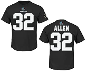 Los Angeles Raiders Marcus Allen Black Eligible Receiver Name and Number T-Shirt by VF