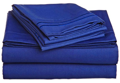 4-Piece QUEEN size, ROYAL BLUE Solid Bed Sheet Set-Super Soft-High Thread Count Double Brushed Microfiber-1500 Series HIGHEST QUALITY & LOWEST PRICE-SALE-Deep Pockets (Royal Blue Bed Sheets compare prices)