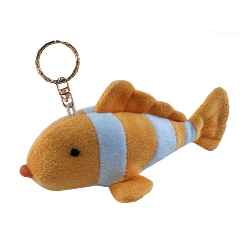 Puzzled Clown Fish Plush Keychain - 1