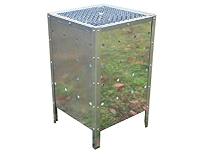 Primes Large Square Garden Fire Bin Incinerator Galvanised 90l Burning Rubbish Trash from PRIME FURNISHING